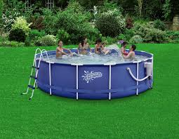 summer escapes 14ft x 42in metal frame pool set shop your way