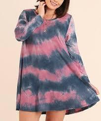 jodi blue tie dye keyhole bell sleeve shift dress plus zulily