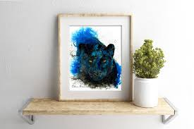 affenpinscher india black panther print by ellen brenneman panther art black