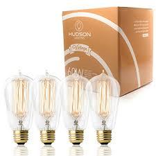 60 watt light bulb lumens antique vintage edison bulb 4 pack 60 watt hudson lighting 60