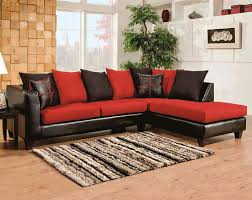 Black Microfiber Sectional Sofa Black Microfiber Cardinal 2 Sectional