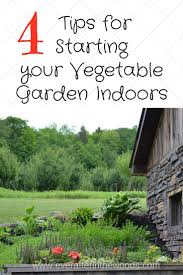 Starting An Organic Vegetable Garden by 4 Tips For Starting Your Vegetable Plants Indoors