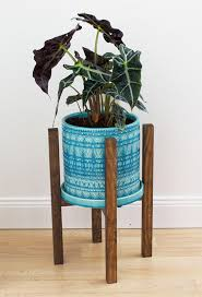 diy modern planter stand at home in love