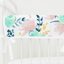 isla u0027s fresh floral navy ruffle crib bedding caden lane