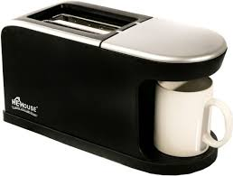 Bread Toasters He House Bread Toaster With Coffee Maker He 1562 Black Price