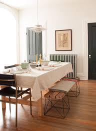 beautiful dining room in hudson valley styled for thanksgiving with