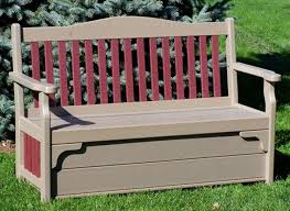 Garden Bench With Storage - poly storage bench from dutchcrafters amish furniture