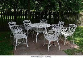 White Metal Patio Chairs Amazing White Metal Patio Chairs U201ctoo Throughout Garden Table
