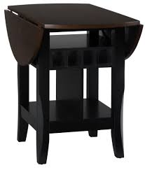 Braden Antique Black  Round Extendable DropLeaf Counter Height - Counter height dining table drop leaf