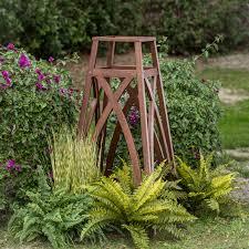 coral coast halstead wood planter trellis hayneedle