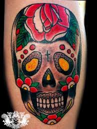 family ink traditional day of the dead skull