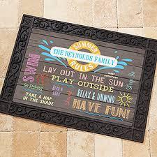 Fun Doormat Personalized Summer Doormat 18x27 Add Custom Text For The Home