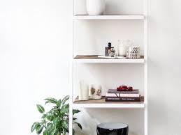 16 white ladder shelf bookcase 5 tier white ladder wall shelf