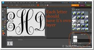 how to make a large monogram cutout the easy way in my own style