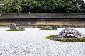 Ryoanji Rock Garden Zen Rock Garden In Ryoanji Temple In A Garden Fifteen Stones