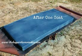 Pvc Patio Furniture Cushions - spray painting fabric the happier homemaker