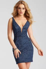 plunging neckline jovani 45810 plunging neckline fitted jersey dress couturecandy