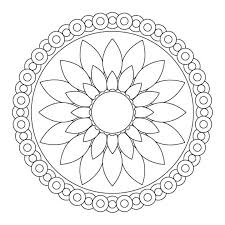 simple mandala coloring pages snapsite me