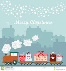train christmas cards christmas lights decoration