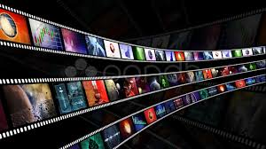 camera reel wallpaper loop able animation of film reels with a dark background clip