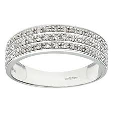 white gold eternity ring naava 9ct white gold quarter carat row diamond half