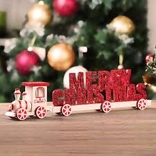 christmas decorations wooden train merry christmas words