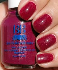 raspberry pink red with multicolored glitter nail colors for girls