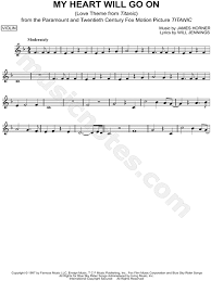 film titanic music download celine dion my heart will go on sheet music violin solo in f