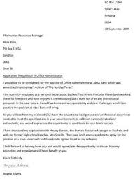 written cover letter great cover letters for administration jobs