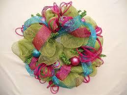 geo mesh wreath deco mesh candy wreaths home design ideas