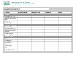 Complete Budget Worksheet Monthly Budget Worksheet Template Sample Templatex123