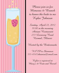 bridal luncheon wording mimosa bridal shower invitations badi deanj