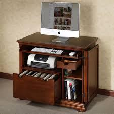 Hidden Laptop Desk by Rustic Dark Brown Varnished Pine Wood Laptop Desk With Open Art