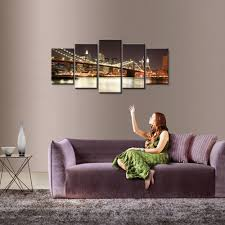 amazon com wieco art modern 5 piece stretched and framed giclee