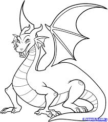 easy dragon drawings kids step step wallpapers