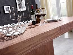 walnut veneer extendable dining table by casabianca home ponte