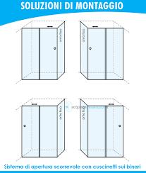 piatto doccia 65x120 box doccia angolare anta fissa porta scorrevole 65x120 cm opaco