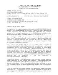 cease and desist breach of contract letter hashdoc