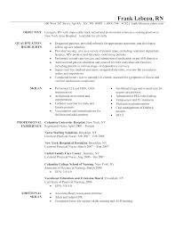 modern resume exles for nurses simple resume exles for registered nurse registered nurse
