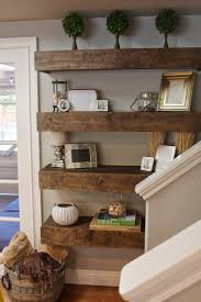 Wooden Shelf Gallery Rails by Best 25 Long Floating Shelves Ideas On Pinterest Home Study