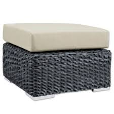 Ottoman Cushions Buy Wicker Ottoman Cushions From Bed Bath Beyond