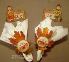 thanksgiving place setting closeup by kmahany cards and paper