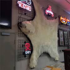 8 foot polar bear rug with paperwork and original bill of sale