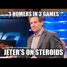 Wtf Is A Meme - 3 homers in 3 games jeter s on steroieds funny wtf meme image
