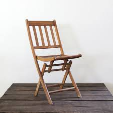 Vintage Wooden Chair Sale Vintage Folding Chair Wood Slat Folding Chair By 86home