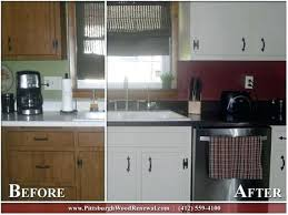 kitchen cabinets refacing sears cabinet refacing before and after
