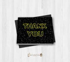 wars thank you cards wars thank you card printable digital sci fi
