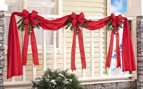 outdoor fence or porch swag ribbons bows