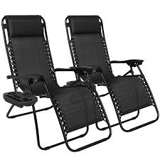 Black Patio Chairs Lounge Chair Plastic Chaise Lounge Reclining Deck Chairs Outdoor