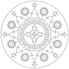 christmas mandala coloring free printable coloring pages